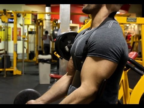 APRODO Weight Lifting Arm Blaster Biceps Isolator Bomber Curl Fitness Gym Workout Training Support