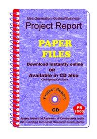 Paper Files manufacturing Project Report eBook