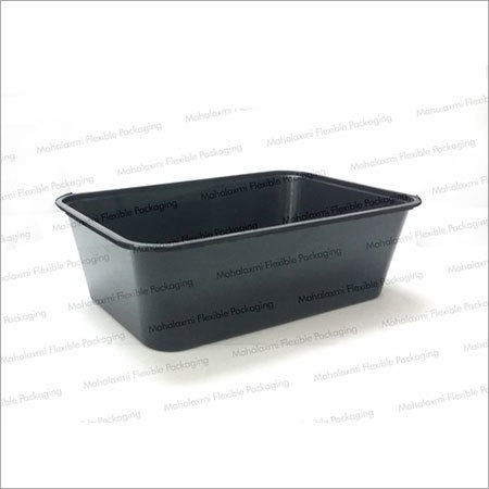 Black Rectangular Take-Away Containers
