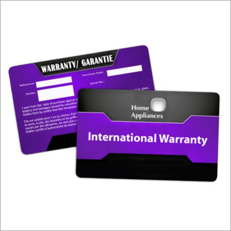 Product Warranty Cards