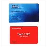 Plastic Warranty Cards