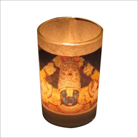God Votive Candle Holder With Light