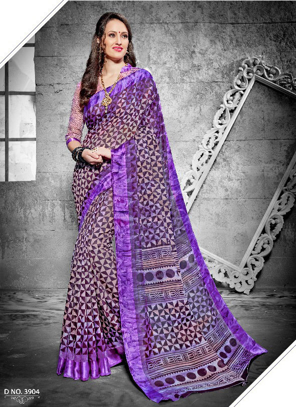 Sethnic New Arrival Casual Printed Summer Saree Under Rs 700