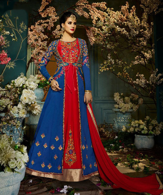 Heavy partywear suit catalog wholesaler sethnic in surat