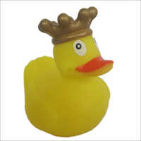 Promotional mini bath yellow rubber duck with crown