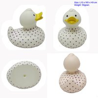 Vinyl duck with round dot whole body