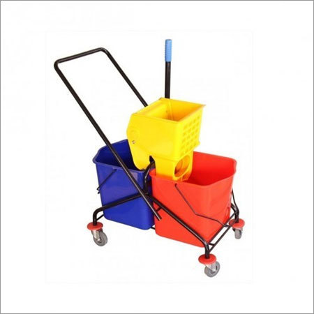 DLX Double Mop Wringer Trolley