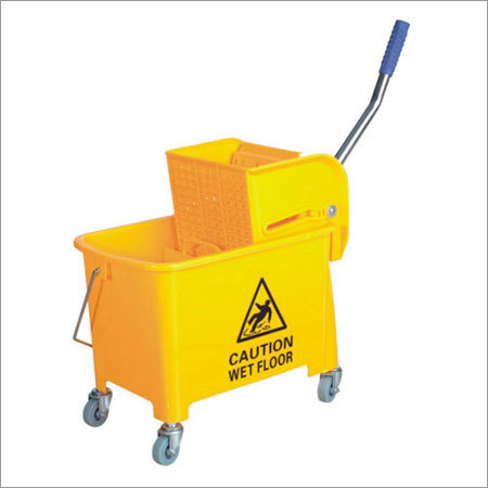 Single Mop Wringer Cleaning Trolley