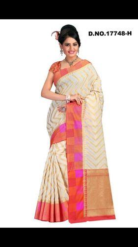 Cotton Chandri silk saree