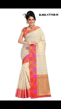 Cotton Chandri silk saree
