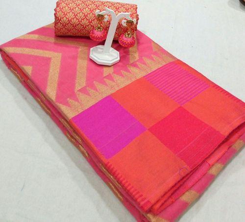 Ladies Chanderi Cotton Silk Saree