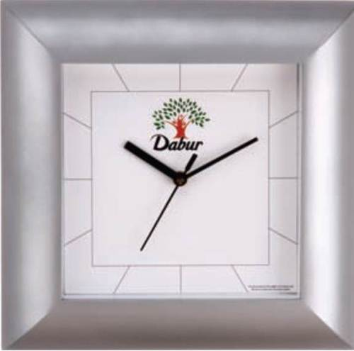 DABUR SILVER COATED WALL CLOCK