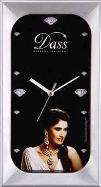 DASS SILVER COATED CLOCK