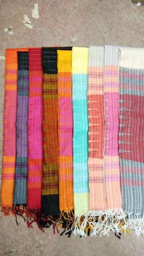 Ladies Tussar Raw Silk Saree (Korvai Silk)