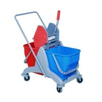double mop wringer trolley plastic frame