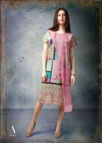 Sethnic wholesaler of cotton satin printed kurti catalog online