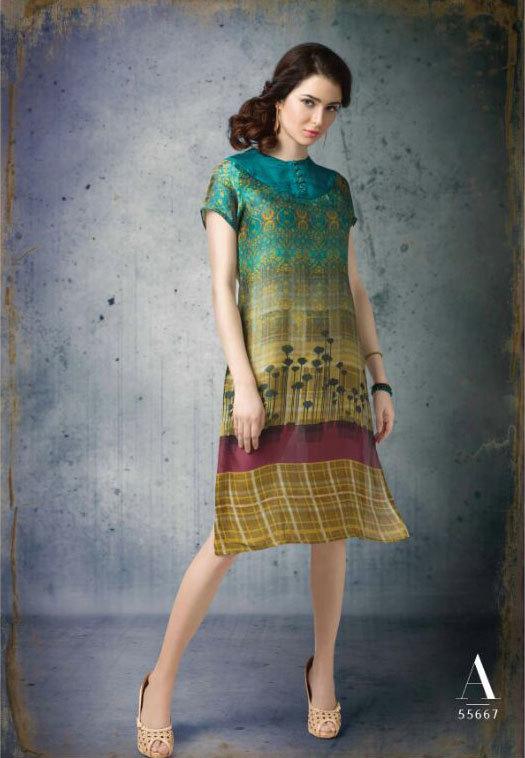 Sethnic wholesaler of cotton satin printed kurti catalog online