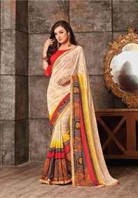 Georgette digital printed saree catalog from Sethnic wholesale supplier in surat