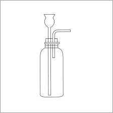 Borosilicate Glass Gas Generating Bottle