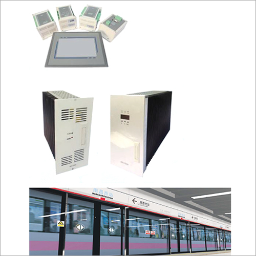 Rail transit screen door power supply