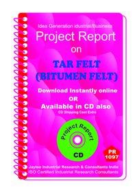 Tar Felt (Bitumen Felt) manufacturing Project Report eBook