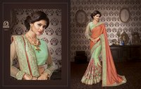 Embroidered Art Silk Fashion Saree