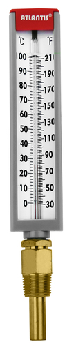 6 inch Industrial Glass Thermometer (Bottom Mount Type)