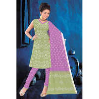 Light Green Bandhani Suit
