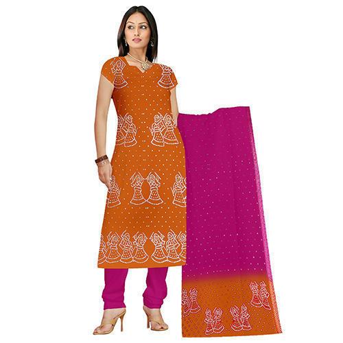 Orange Bandhej Suit