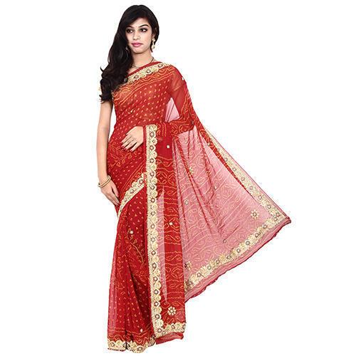 Bandhni Silk Saree