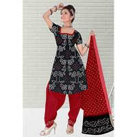 Bandhani Black Print Suit