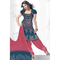 Bandhej Blue Print Suit