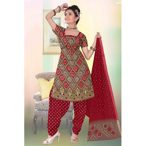 Bandhani Cotton Suit Material