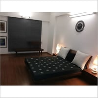 Black Theme Bed Room Curtain