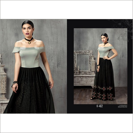 Ladies Black Beauty - Off Shoulder Kurti