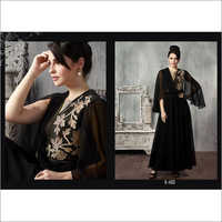 Ladies Black Beauty - Cut Sleeves Kurti
