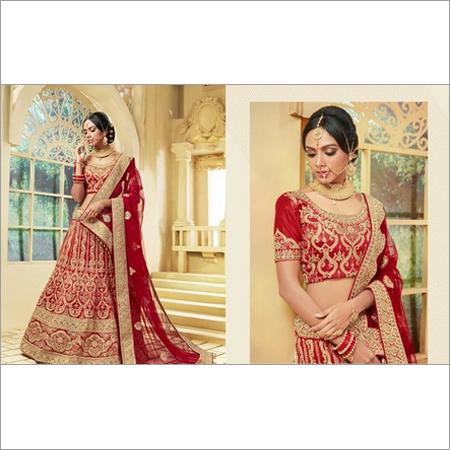 Designer Semi Stitched Heavy Embroidery Bridal Lehenga