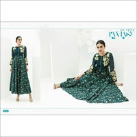 Dark Green Embroidered Kurta