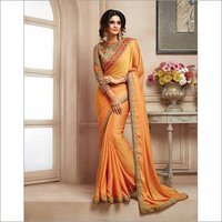 Designer Saree With Heavy Embroidery Blouse