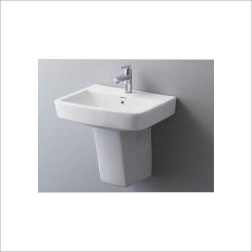 Crema - Half Pedestal Basin