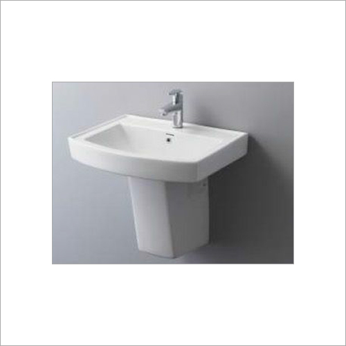 Loras - Half Pedestal Basin