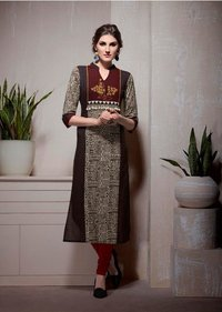 Sethnic khatli work kurtis in cotton rayon wholesale prices