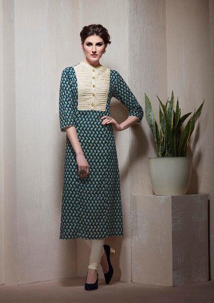 Sethnic khatli work kurtis in cotton rayon wholesale prices