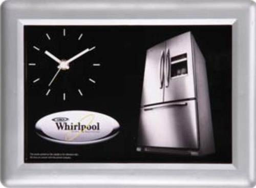 WHIRLPOOL SILVER COATED WALL CLOCK