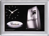 WHIRLPOOL SILVER COATED WALL CLOCK