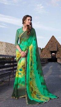 Sethnic border work printed saree catalogs wholesale prices