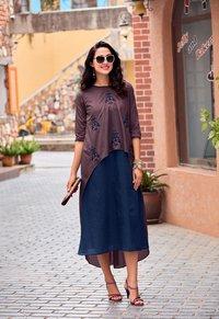 Designer Hand Work Silk Dress