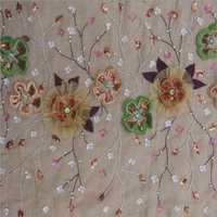 Designer Net Embroidered Fabrics