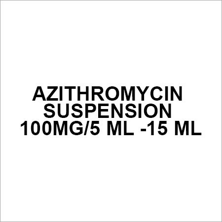 Azithromycin Suspension 100mg 5 ml -15 ml