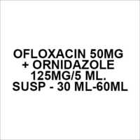 Ofloxacin 50mg + Ornidazole 125mg 5 ml. Susp - 30 ml-60ml